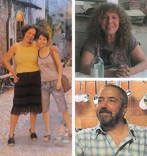 Rosalia and Debora (left), Stefania (top right) and Stefano