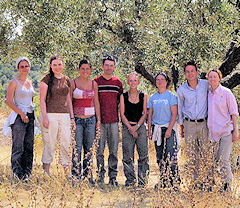 Dr Roth's team of archae­ologists, who stayed at Casa Galilei and worked at a local site